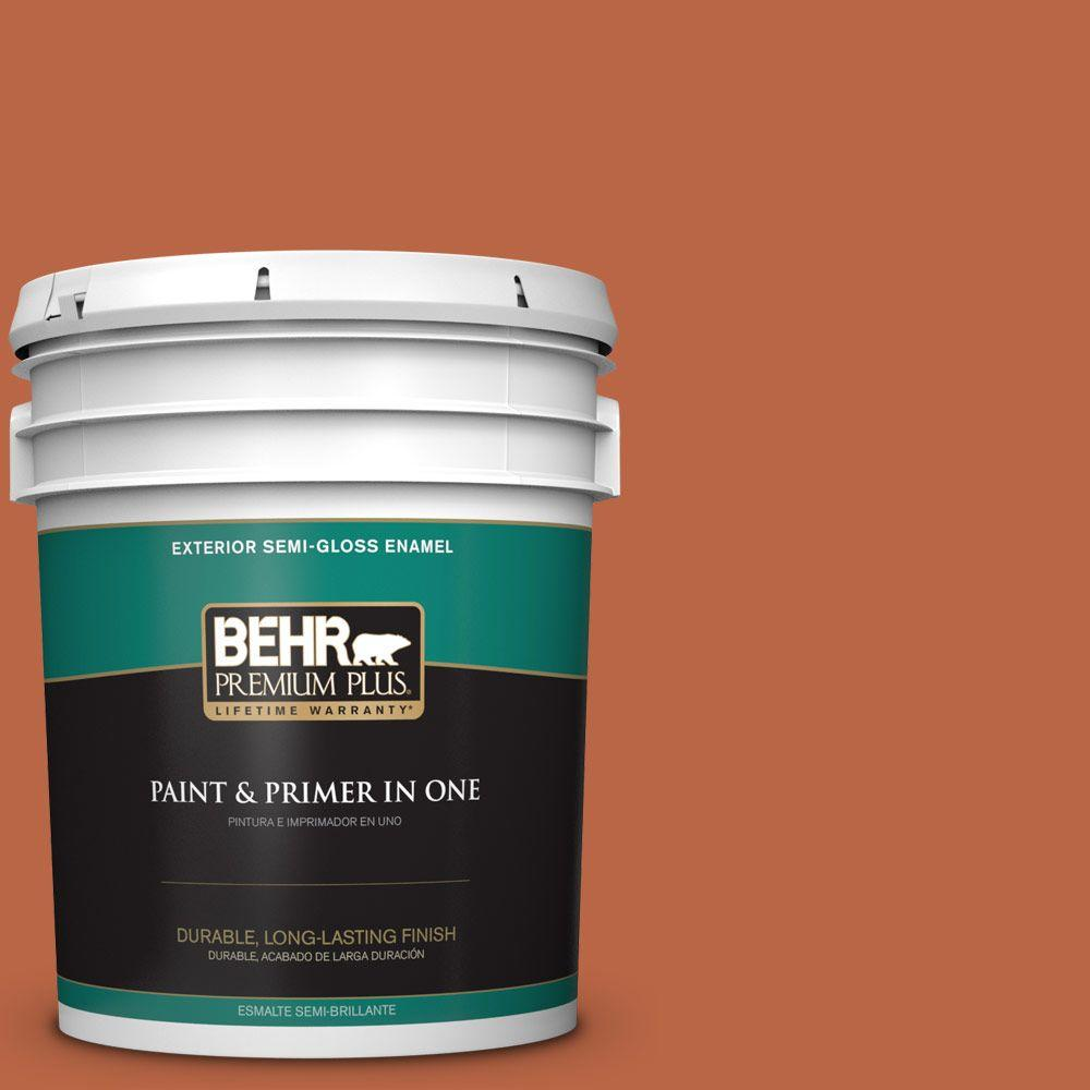 5 gal. #HDC-FL15-01 Pumpkin Drizzle Semi-Gloss Enamel Exterior Paint