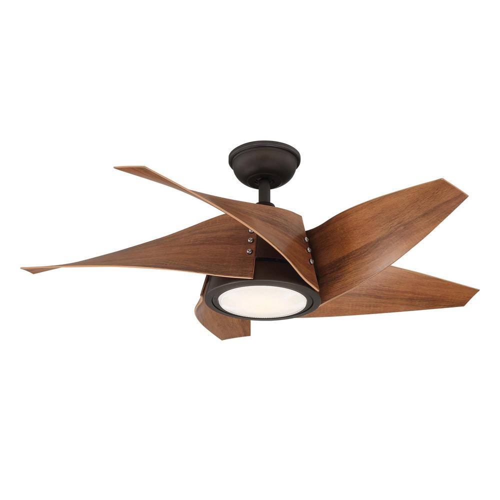 Home Decorators Collection Broughton 42 in  LED Espresso Bronze Ceiling Fan  with Remote Control