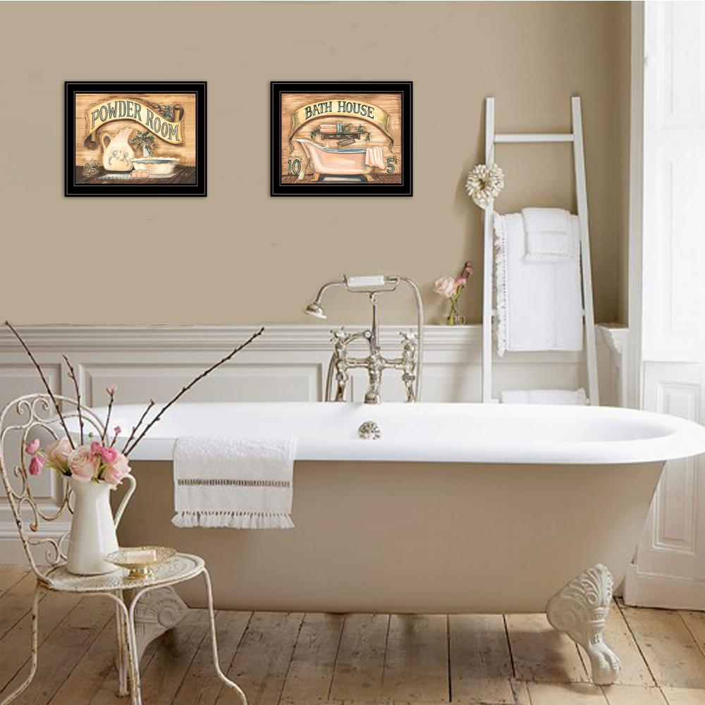 Trendy Decor 4u Bath And Powder Room By Becca Barton Framed Wall Art