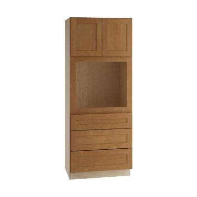 Hargrove Assembled 33x84x24 in. Pantry/Utility Universal Oven Kitchen Cabinet in Cinnamon