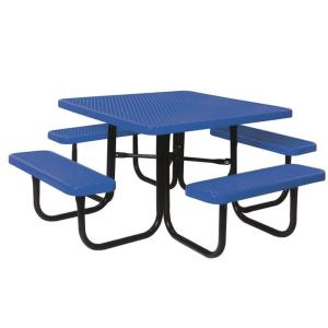 Ultra Play 46 inch Diamond Blue Commercial Park Square Table by Ultra Play