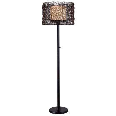 Tanglewood 58 in. Bronze Outdoor Floor Lamp