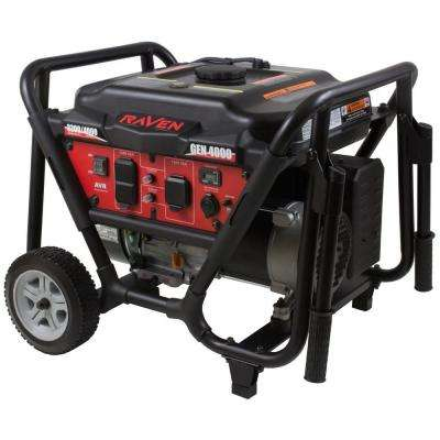 3200-Watt Gasoline Powered Portable Generator with Wheel Kit