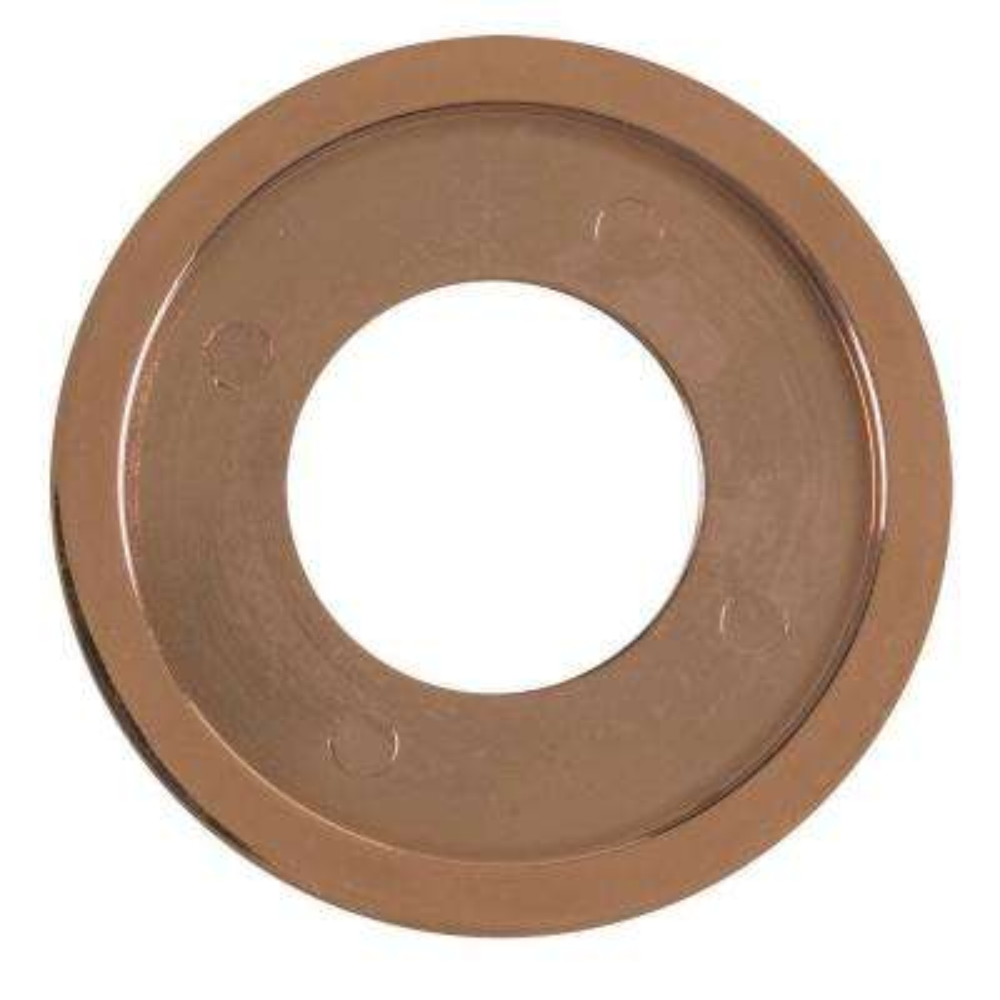 Decorative Gas Valve Flange Ring in Polished Copper