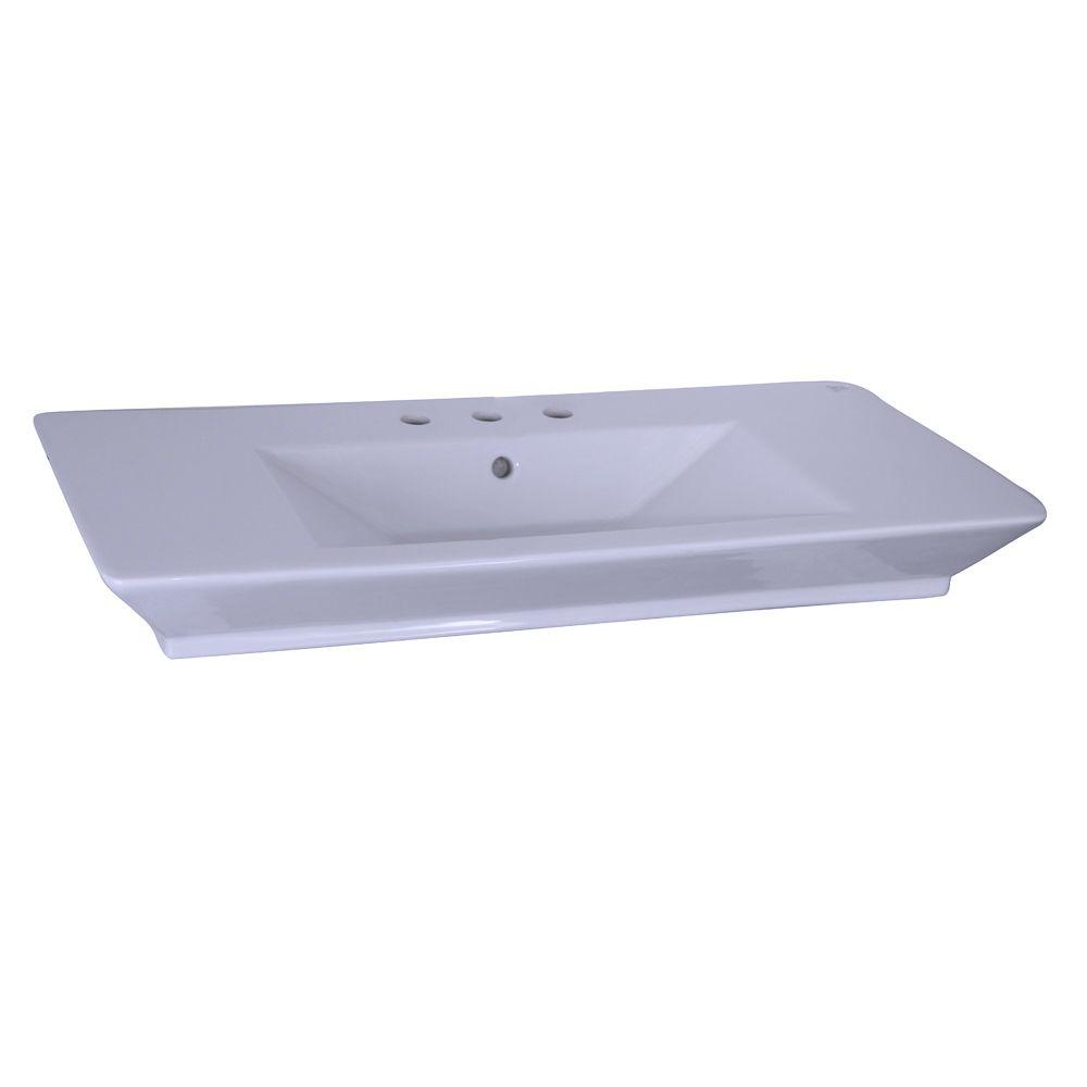 Aristocrat 19-3/8 in. Console Sink Basin in White
