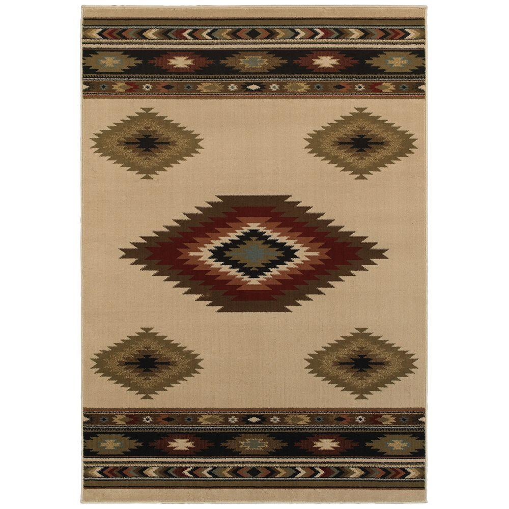 Home Decorators Collection Aztec Ivory 7 Ft 10 In X 10