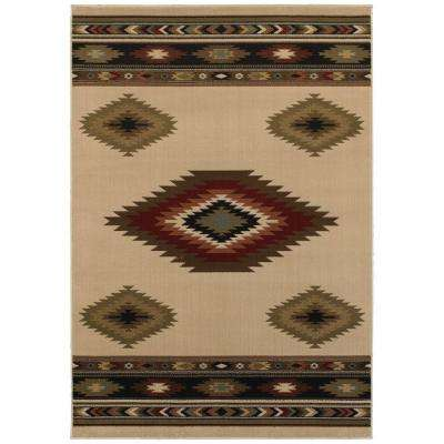 Aztec Ivory 7 ft. 10 in. x 10 ft. Area Rug