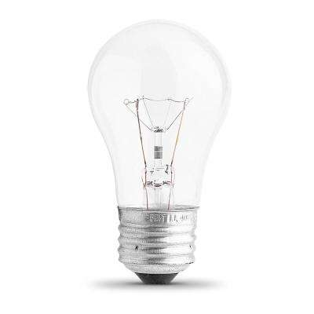 40-Watt Soft White (2700K) A15 Clear Glass E26 Base Dimmable Incandescent Appliance Light Bulb (6-Pack)