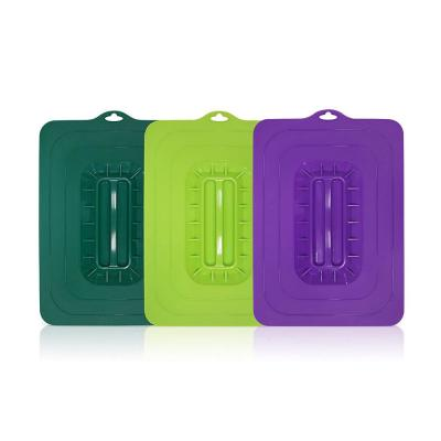 Colored Rectangular Silicone Suction Lids (3-Piece)
