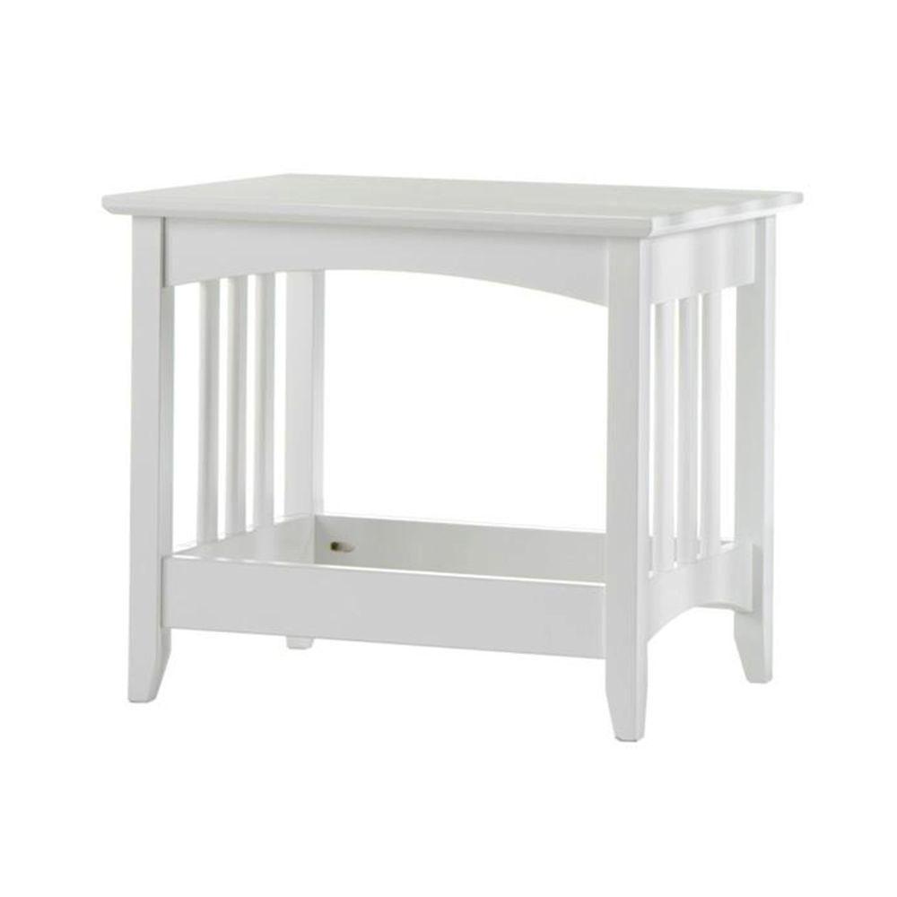 Home Decorators Collection Hawthorne White 21 in. W Slatted Bench