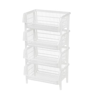 15.69 in. x 10 in. Jumbo Stacking Basket (4-Pack)