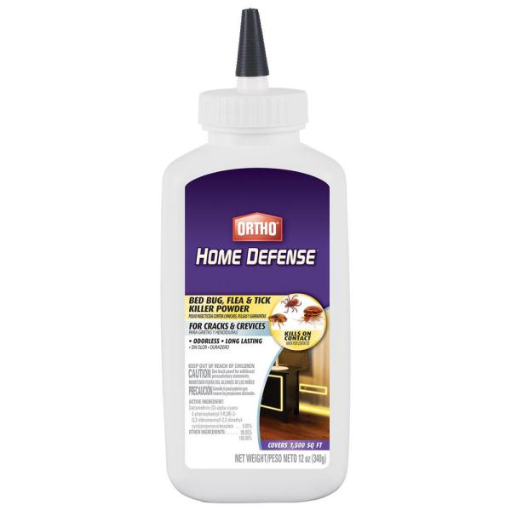 12 oz. Home Defense Bed Bug, Flea and Tick Killer Powder