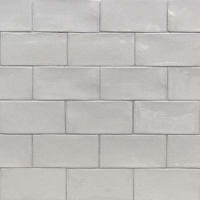 Catalina Gris 3 In X 6 8 Mm Polished Ceramic Subway Wall Tile 5 38 Sq Ft Case