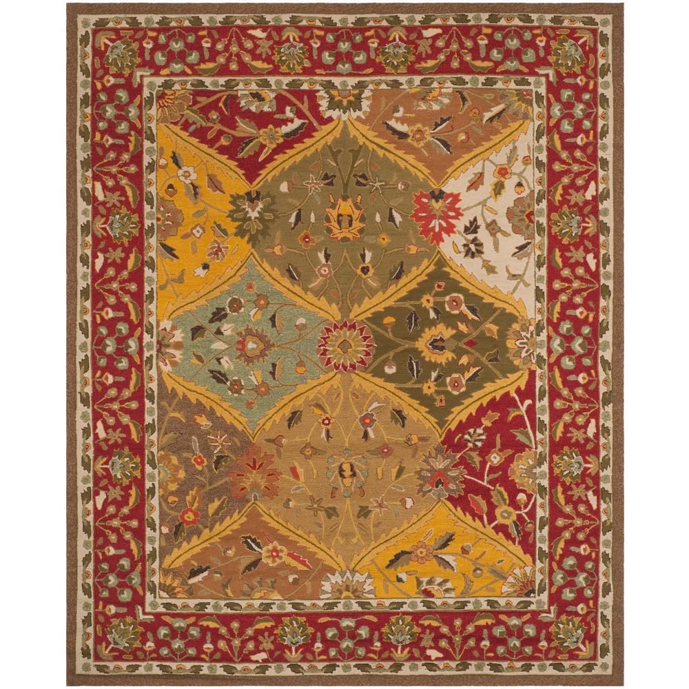 Safavieh Easy Care Multi Red 9 Ft X 12 Area Rug