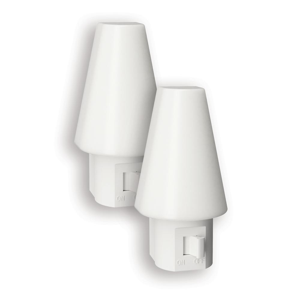 Frosted Manual Switch LED Night Light (2-Pack)