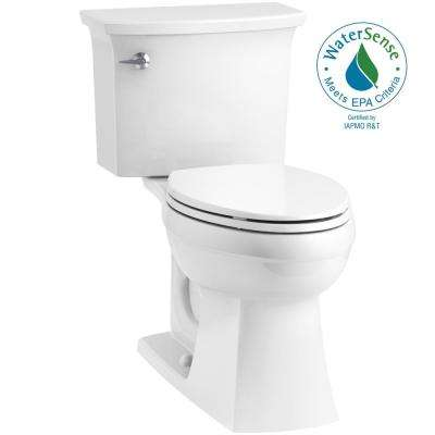 Elmbrook The Complete Solution 2-piece 1.28 GPF Single Flush Elongated Toilet in White, Seat Included