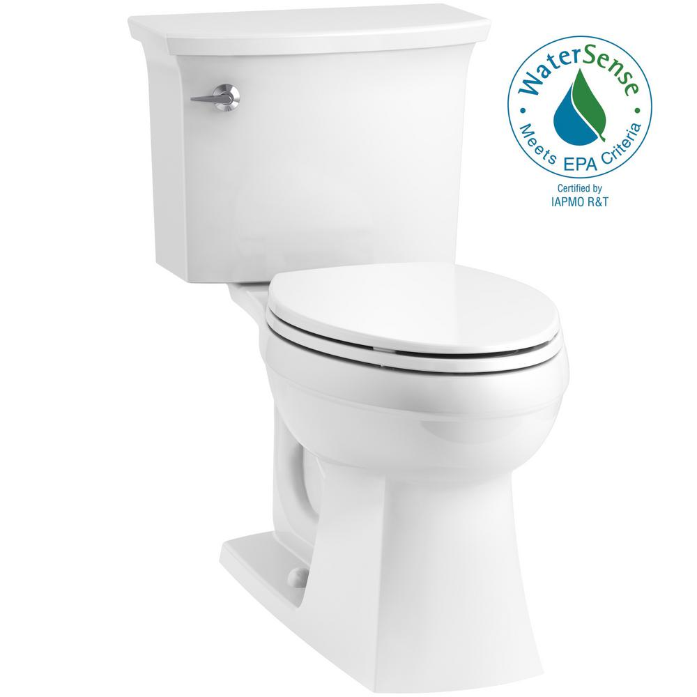 Surprising Kohler Elmbrook The Complete Solution 2 Piece 1 28 Gpf Single Flush Elongated Toilet In White Seat Included Machost Co Dining Chair Design Ideas Machostcouk