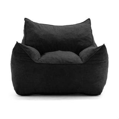 Imperial Lounger Shredded Ahhsome Foam Black Comfort Suede Plus Bean Bag
