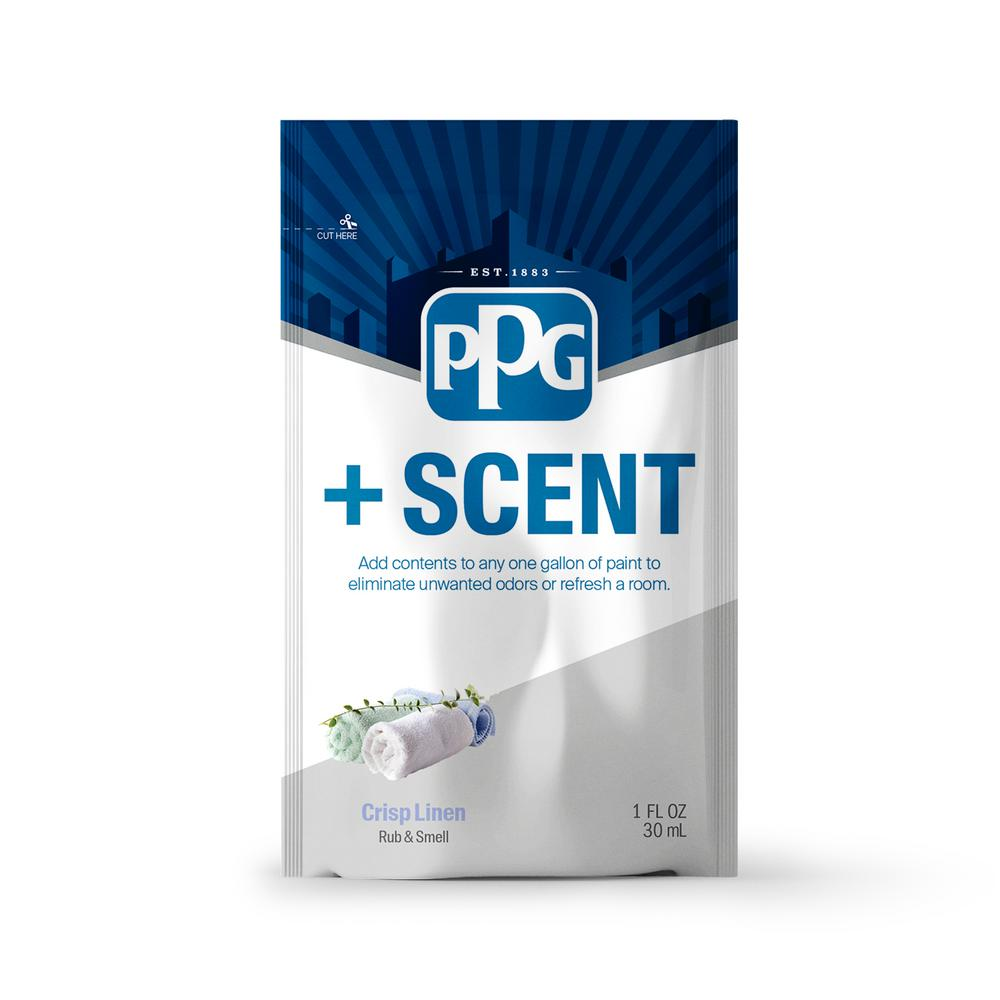 PPG PPG +Scent 1 oz. Crisp Linen Odor Control Paint Additive (Treats 1 Gal.)