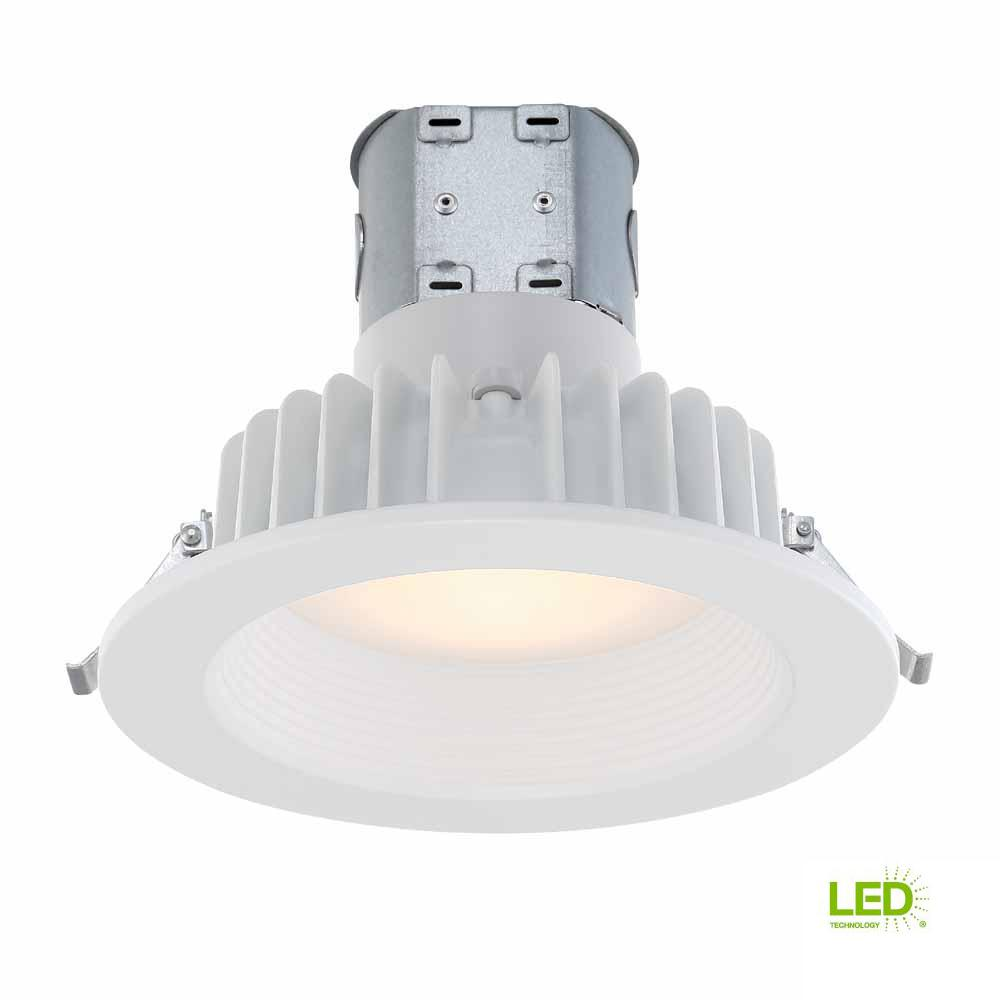 622 Recessed Lights To 1 Switch Diagram Electrical Wiring Diagrams Canned Light Commercial Electric Easy Up 6 In White Baffle Integrated Led