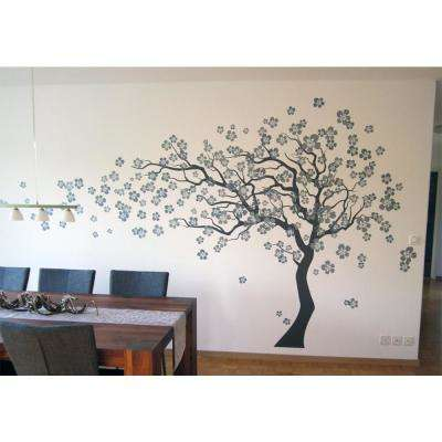 144 in. x 83 in. Cherry Blossom Tree Removable Wall Decal