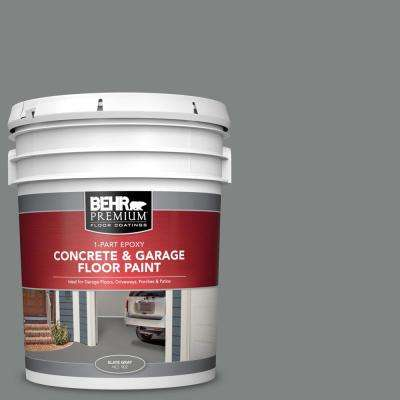 5 gal. Slate Gray Self-Priming 1-Part Epoxy Satin Interior/Exterior Concrete and Garage Floor Paint