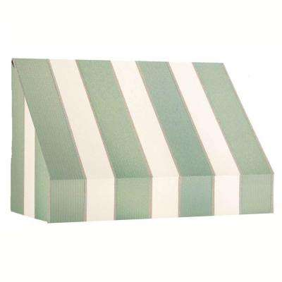8 ft. New Yorker Window Awning (44 in. H x 24 in. D) in Olive/Tan Stripe