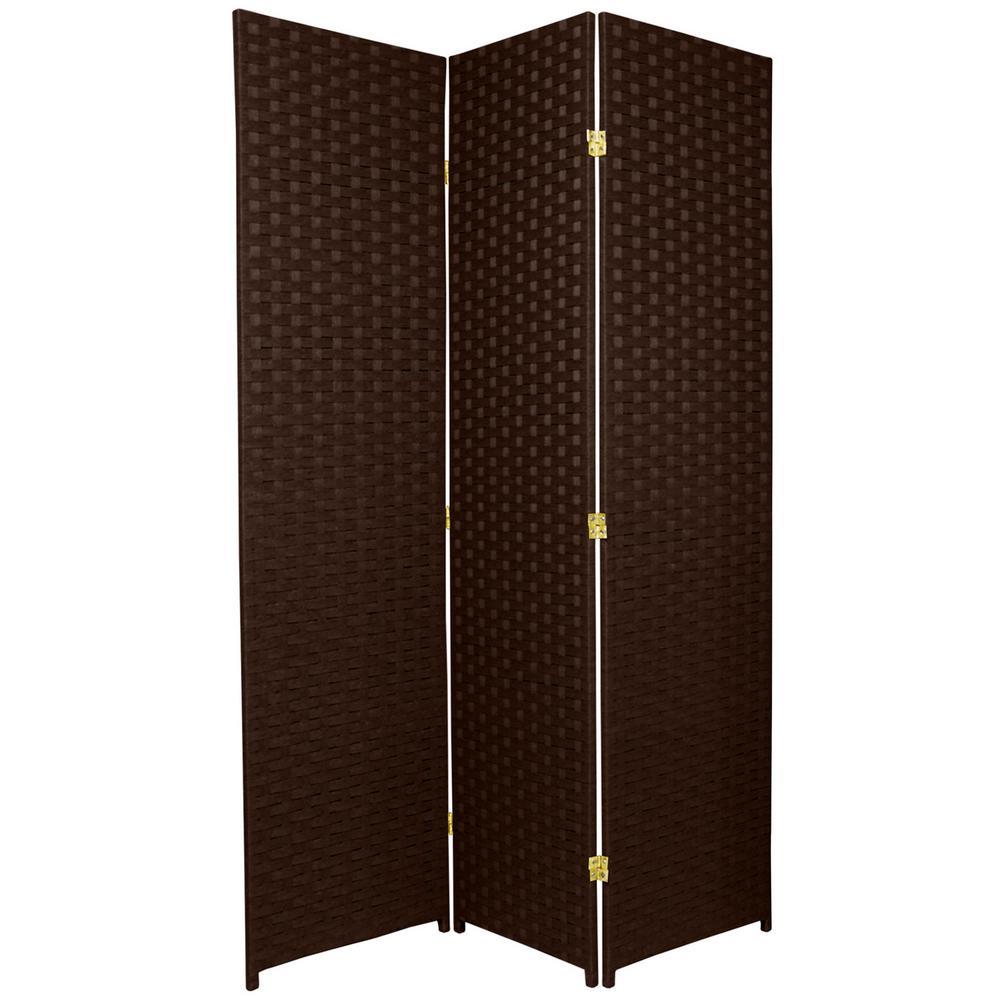 Dark Mocha 3 Panel Room Divider