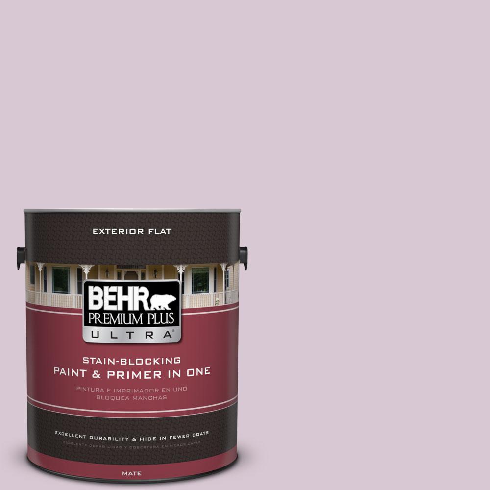 BEHR Premium Plus Ultra 1-gal. #S110-2 Orchid Haze Flat Exterior Paint