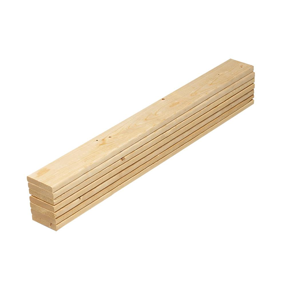 1 in. x 4 in. x 3.25 ft. Pine Twin Bed Slat Board (7-Pack)