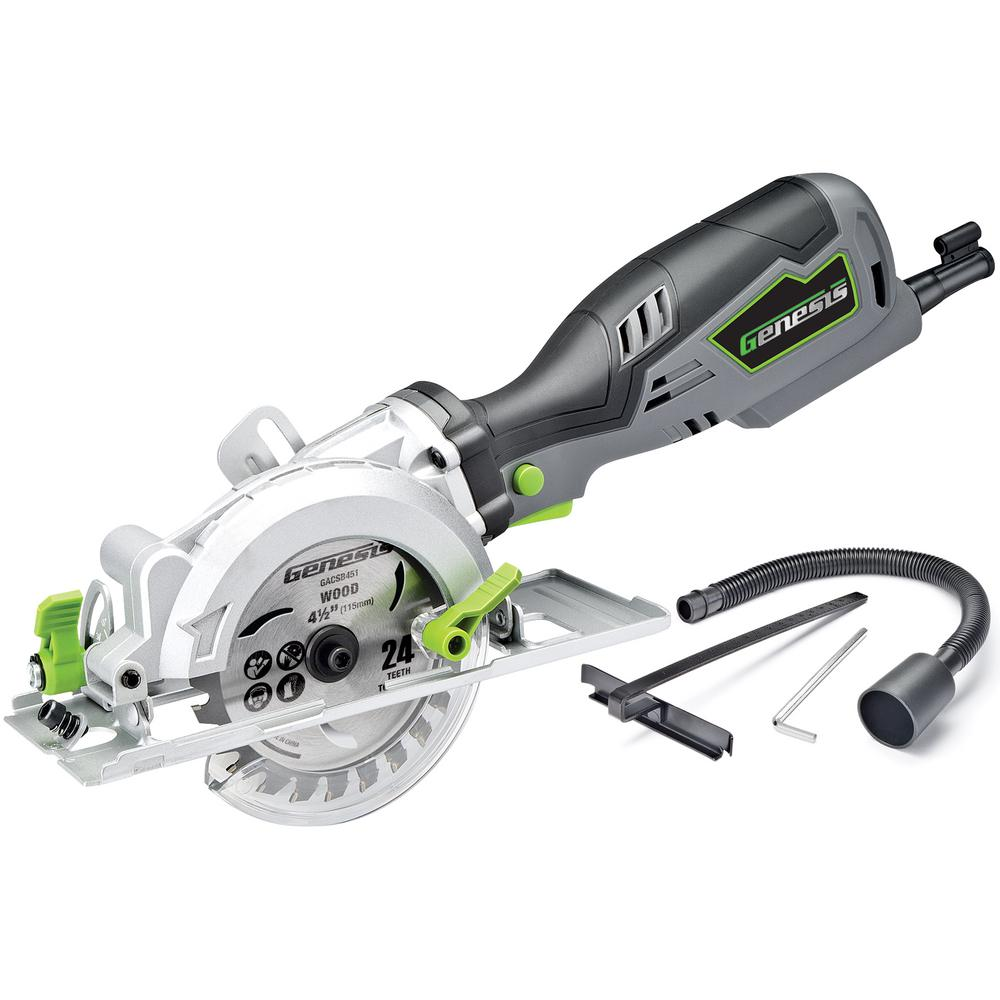 Genesis 58 amp 4 12 in compact circular saw gcs545c the home depot compact circular saw greentooth Images