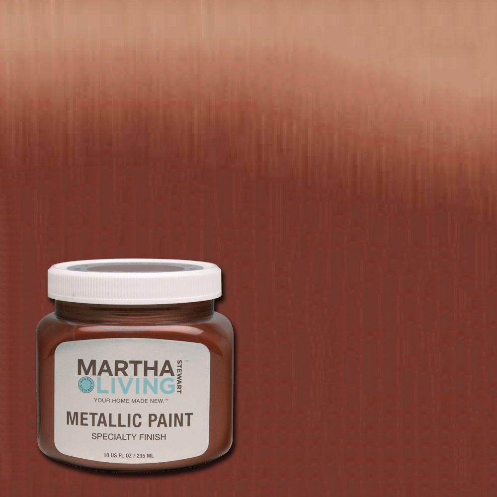 Merveilleux Martha Stewart Living 10 Oz. Copper Red Satin Metallic Paint