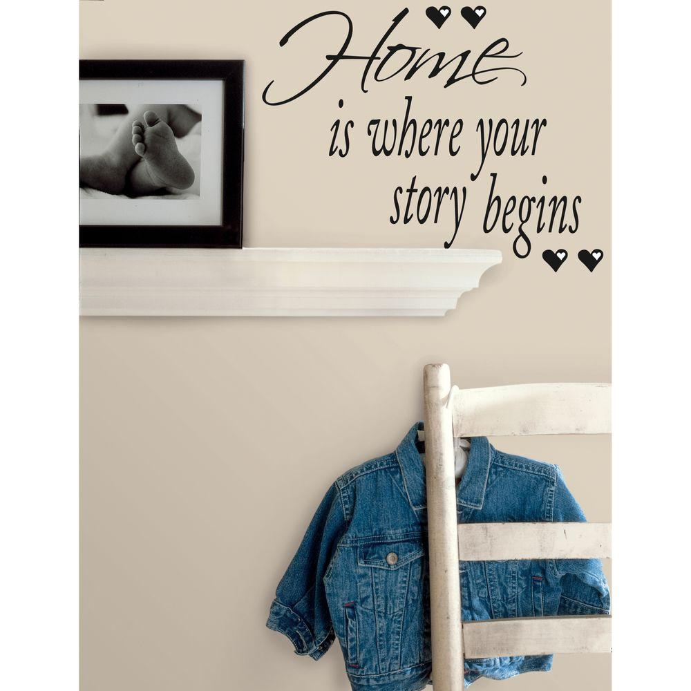 7.35 in. x 26 in. Home is Where Your Story Begins