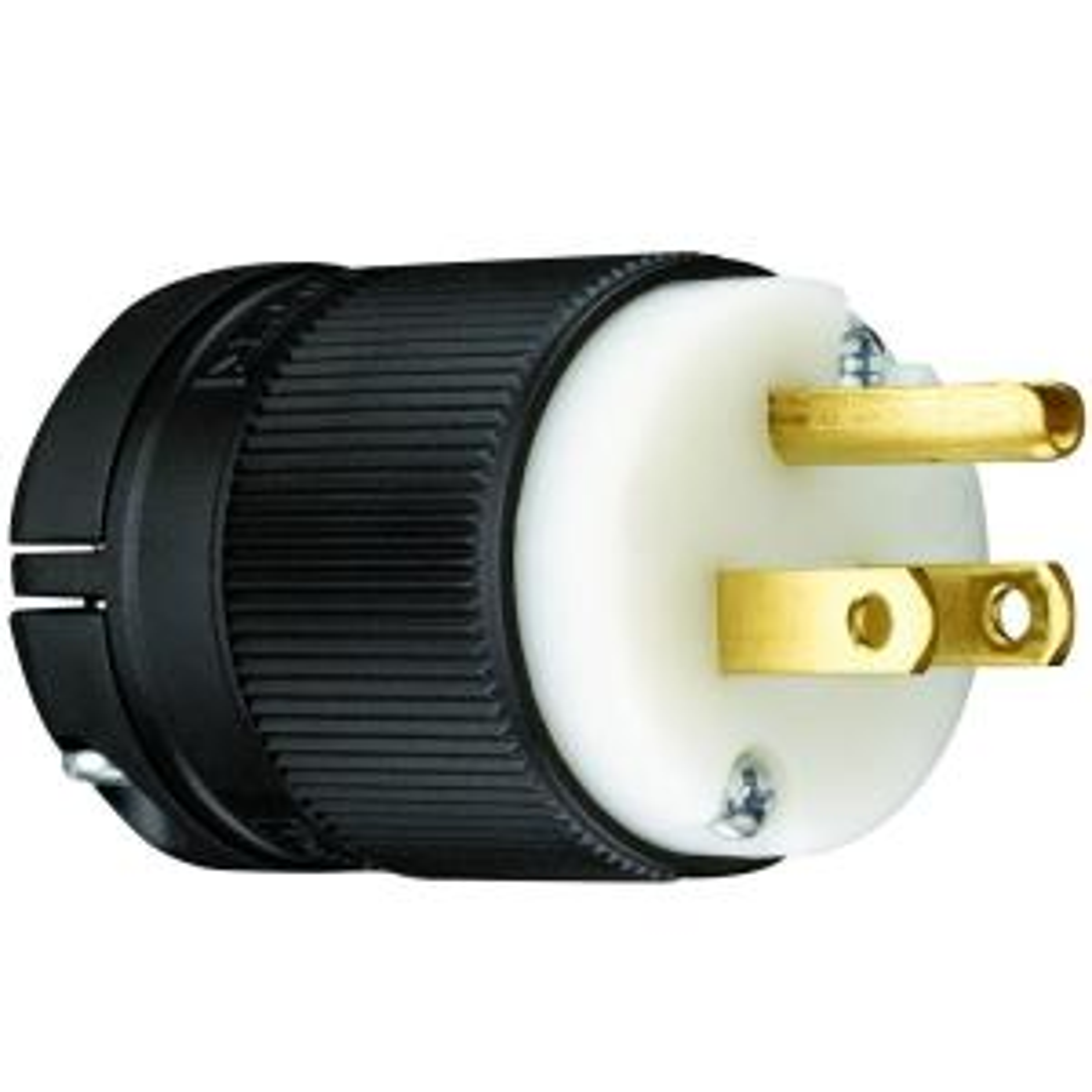 Pass & Seymour Clamp-Lock 15 Amp 125-Volt NEMA 5-15P Straight Blade Plug
