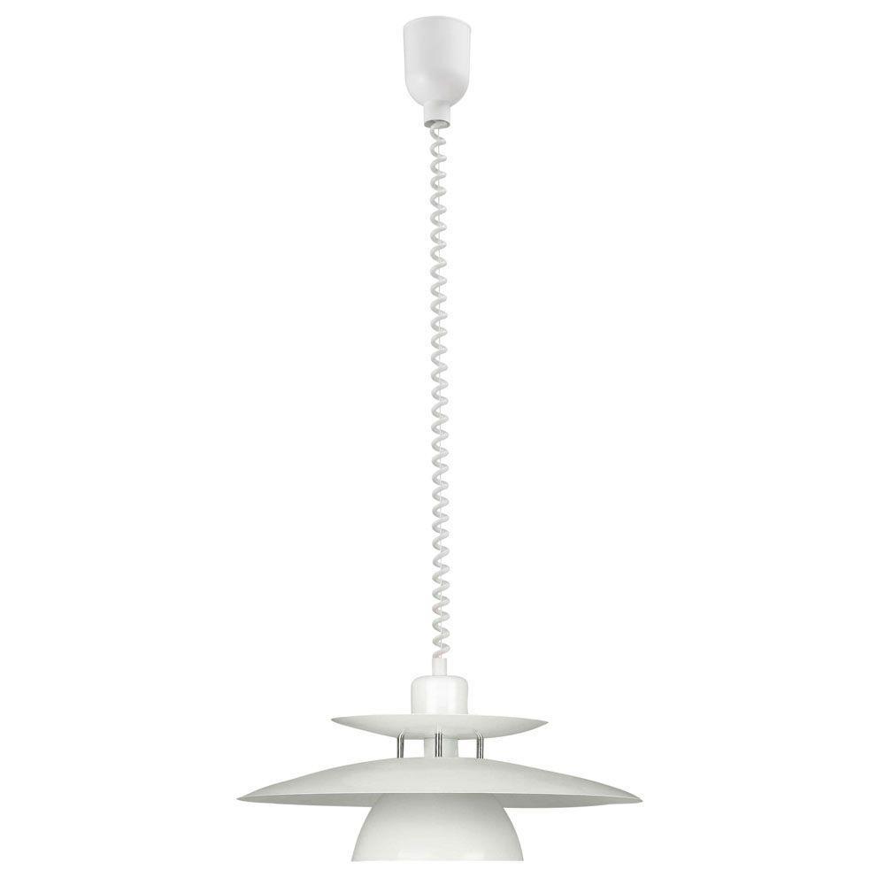 Brenda 1-Light White Pendant