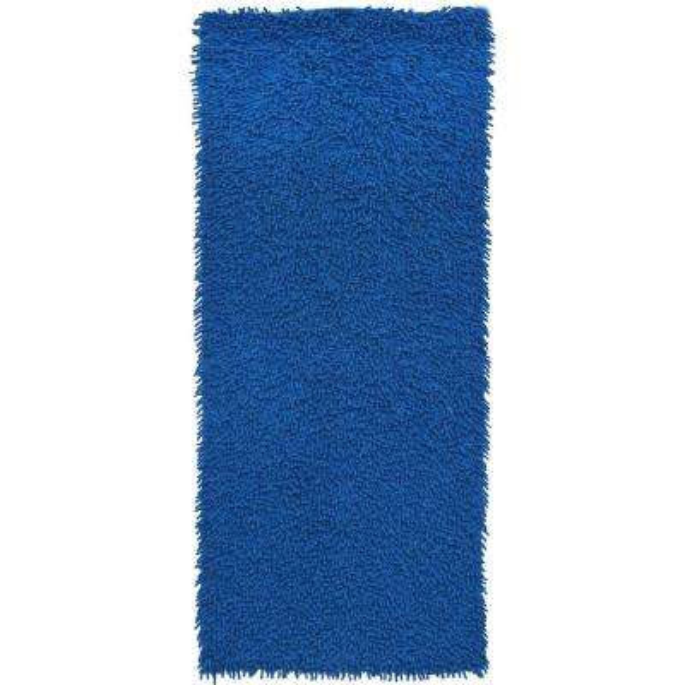 Midnight Blue Shag Chenille Twist 2 ft. x 5 ft. Runner