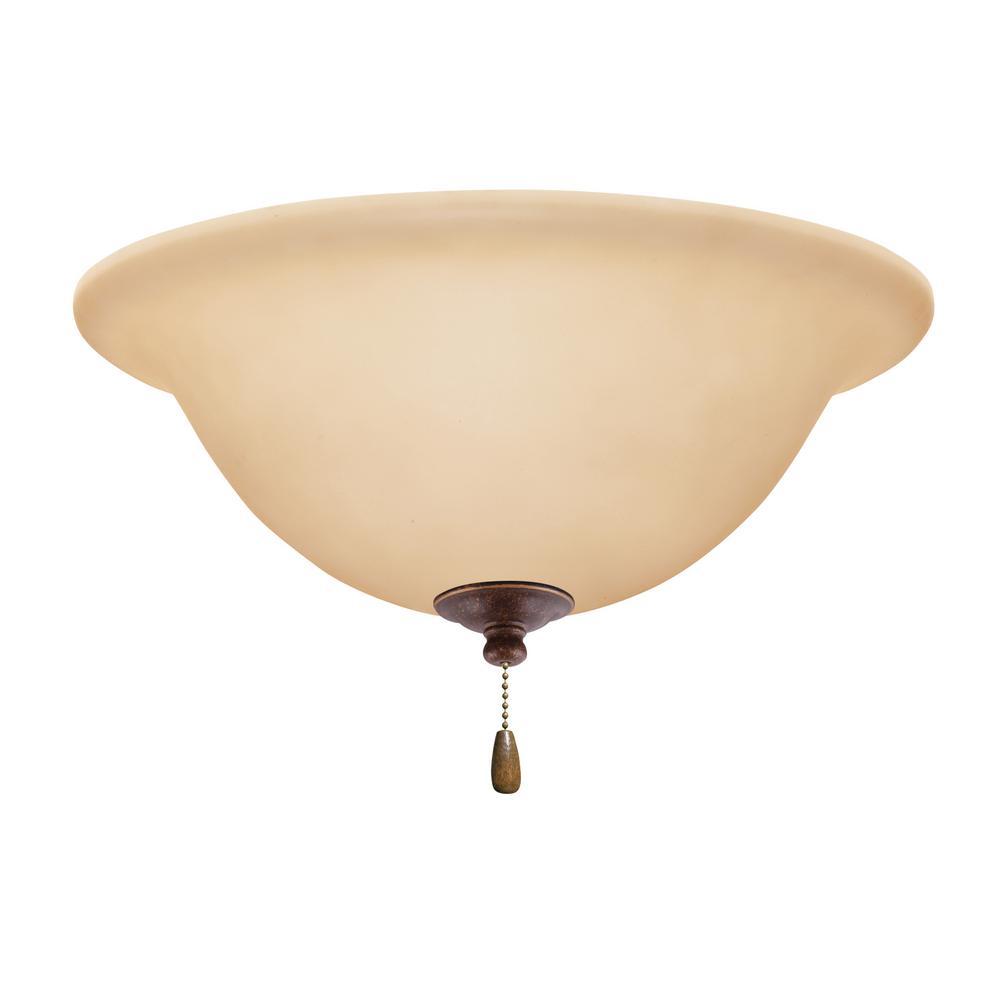Amber Scavo 3-Light Gilded Bronze Ceiling Fan Light Kit