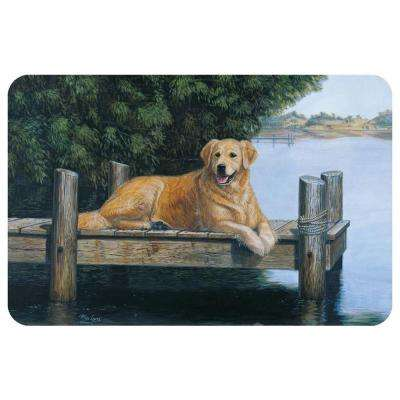 Printed Golden By Dunes Mat by Mia Lane 17.5 in. x 26.5 in.