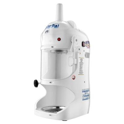 Great Northern Polar Pal 128 oz. White  Ice Block Shaver and Snow Cone Machine