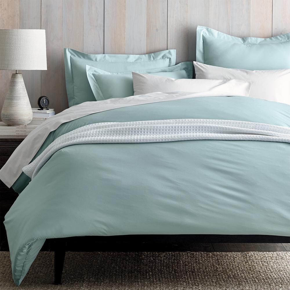 Organic Percale 300-Thread Count Duvet Cover