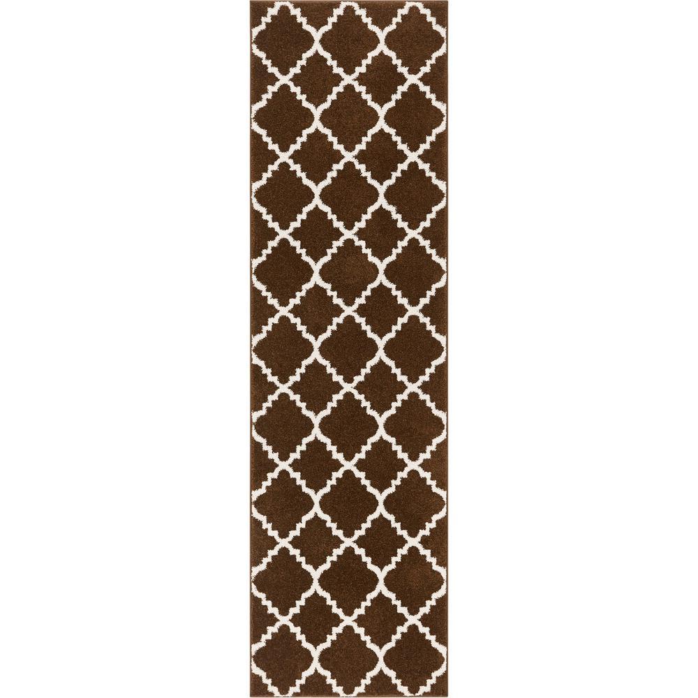 Well Woven Sydney Lulu's Lattice Moroccan Trellis Brown 3