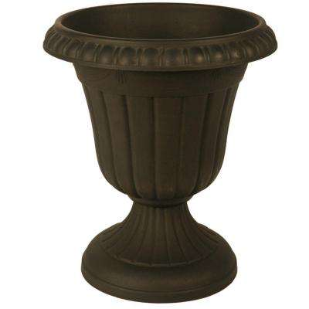Traditional 13 in. x 15 in. Black Plastic Urn