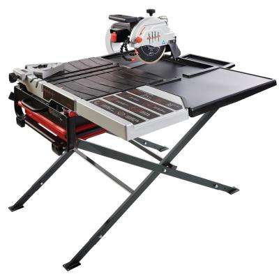 10 in. 115 Amp Wet Tile Saw Kit with Scissor Stand