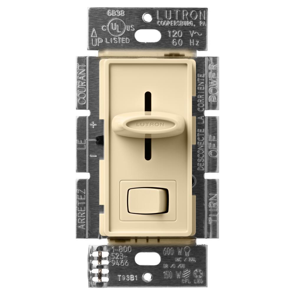 Lutron Skylark Contour 150 watts SINGLE-Pole//3-Way CFL-DEL Dimmer-Blanc