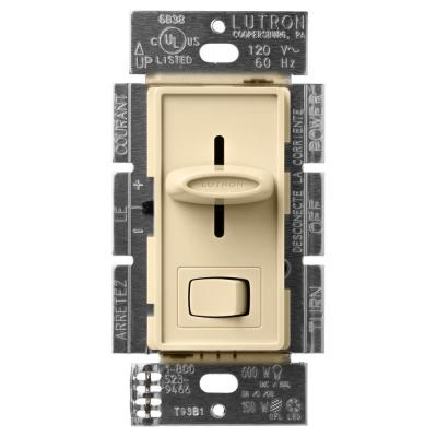 Skylark LED+ Dimmer Switch for Dimmable LED, Halogen and Incandescent Bulbs, Single-Pole or 3-Way, Ivory