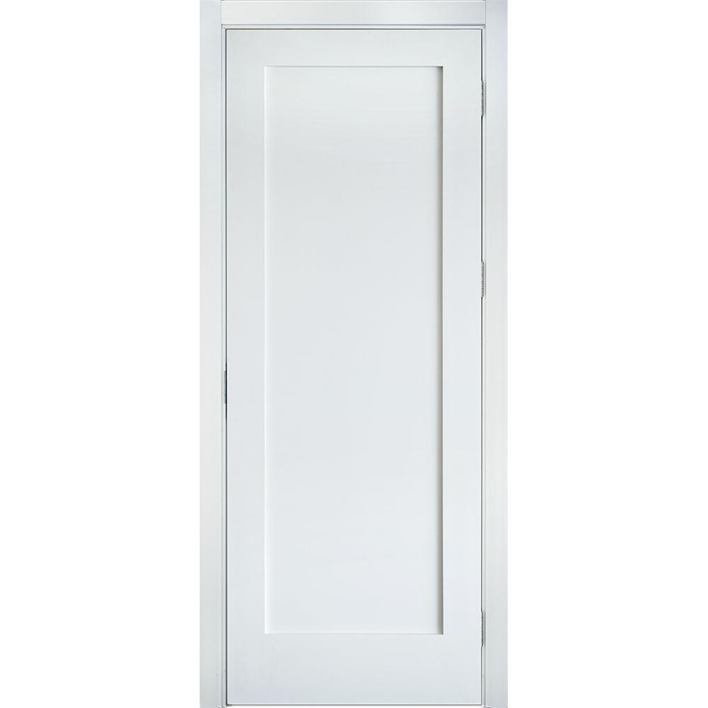Krosswood doors 24 in x 96 in shaker 1 panel primed for Solid core mdf interior doors