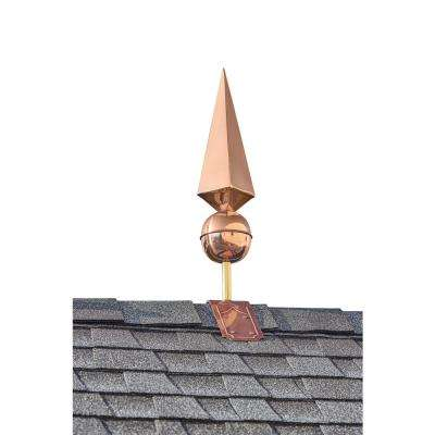 Lancelot Pure Copper Finial with Decorative Copper Roof Mount