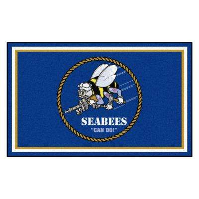 U.S. Navy - SEABEES 4 ft. x 6 ft. Ultra Plush Area Rug