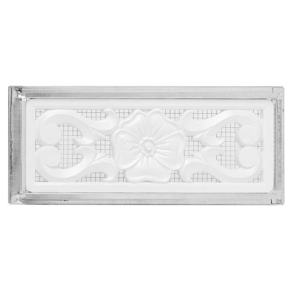 14 in. x 6 in. Foundation 2-Way Vent with Decorative White