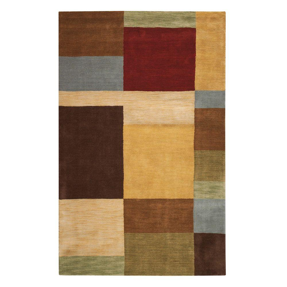 Home Decorators Collection Omega Multi 5 ft. 3 in. x 8 ft. 3 in. Area Rug